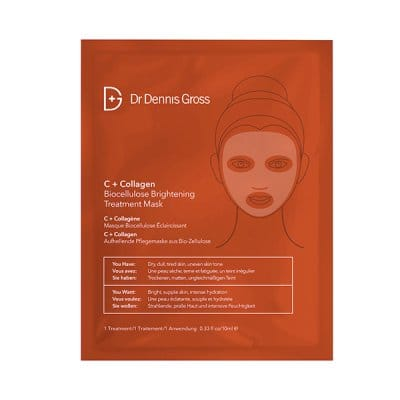 Dr Dennis Gross C+ Collagen Bio Cellulose Brightening Treatment Mask